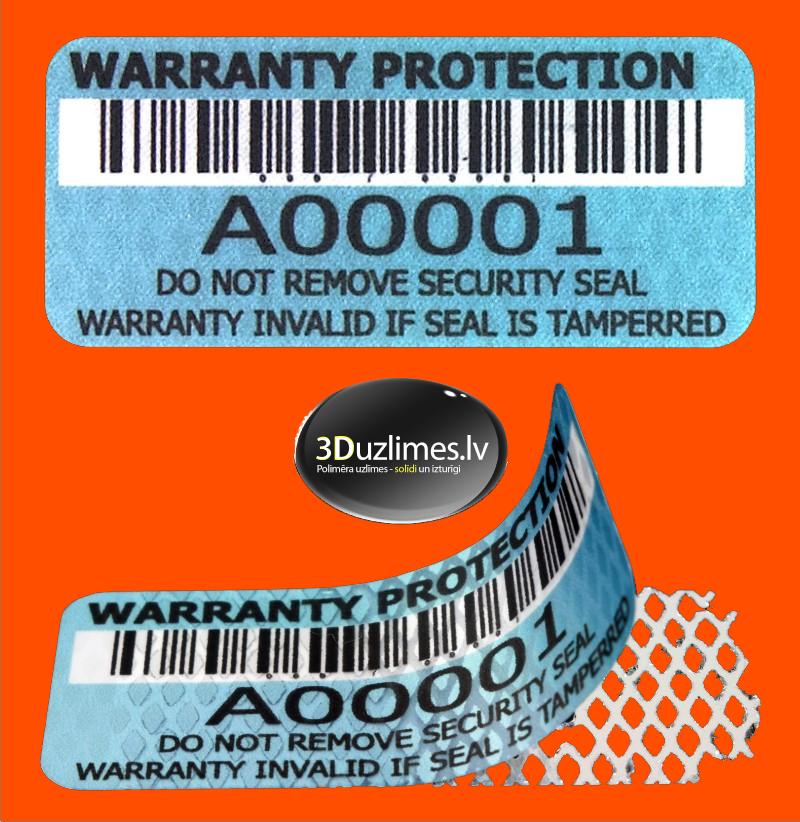 warrnty stickers